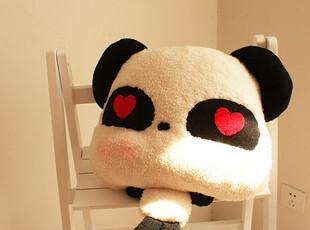 纯手工超可爱笑脸熊猫公仔抱枕布娃娃热卖,玩偶,