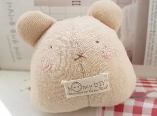 honeyDIY 手工QQ熊婴儿摇铃玩具玩偶 宝宝摇铃玩具(非成品),玩偶,