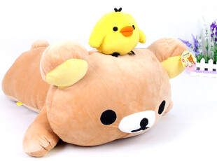 正版轻松小熊 毛绒玩具 玩偶布娃娃日本熊抱枕生日礼物情人节礼品,玩偶,