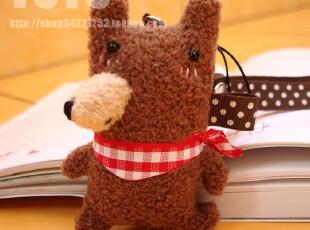 可爱萌系熊熊纯手工原创DIY公仔卡通手机链挂件围巾熊尖嘴包挂,玩偶,