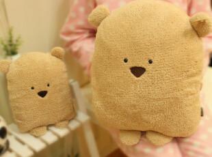 米西公主特价广告款可爱方熊 超Q大脸方熊靠垫/抱枕 暖手抱枕熊熊,玩偶,