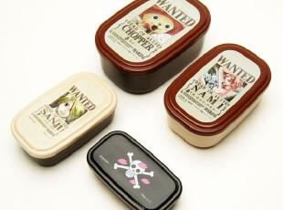 【预订】日本制造正品ONE PIECE海贼王可爱便当盒饭盒四件套A,玩偶,