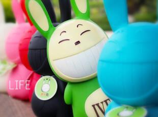 roogo创意卡通涂鸦平台公仔伊文兔iven玩具储蓄罐存钱罐高考神器,玩偶,