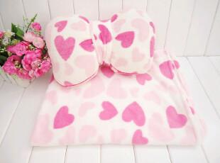 毛绒 心形图案空调被 蝴蝶结抱枕 两件套 家居礼品 春被 棉被,玩偶,
