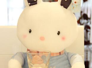 蓝白咪咪兔 抱枕 靠垫两用 可爱 毛绒玩具兔子 娃娃 彼得兔 公仔,玩偶,