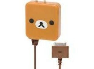 [现货]San-X 轻松熊脸型充电器。棕(iPhone/iPad/iPod)(537452),玩偶,