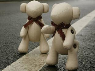【试用中心官方推荐】关节熊 绅士蝴蝶结熊熊 创意手工玩偶,玩偶,