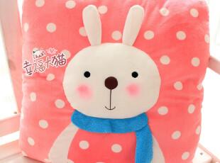 特!正版metoo咪兔 可爱兔子公仔 卡通毛绒娃娃方形大抱枕/靠垫,玩偶,