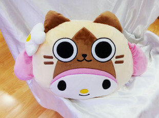 8月份日本限定Airou x My Melody Kuromi 系列抱枕--2款,玩偶,