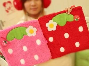 米西公主 可爱粉嫩草莓坐垫抱枕靠枕靠垫 空调被毯子 椅垫卖萌,玩偶,
