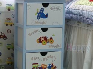 ★公主梦想★韩国家居*飞机轮船小火车*小王子的三层收纳柜 M1820,玩偶,