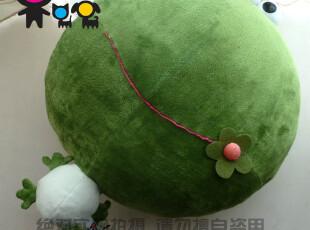 毛绒玩具-日本不二家正版大头可爱青蛙卡通抱枕靠垫明日蛙绿豆蛙~,玩偶,