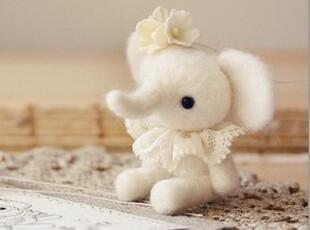 材料包 小公主象 羊毛毡戳戳乐 DIY玩偶 手工 不织布 摆件 满包邮,玩偶,