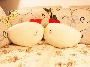 可爱卡通嘟嘟小鸡情侣抱枕 午睡枕 毛绒小抱枕 女生,玩偶,