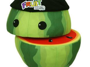 水果忍者切西瓜Fruit Ninja 毛绒玩具公仔大号 儿童节礼物,玩偶,