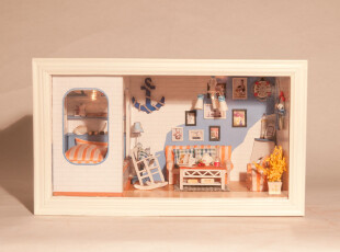 diy小屋 手工模型 悠长假期【爱琴海的幸福小屋】七夕创意礼物,玩偶,