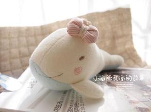 honeyDIY 手工海豚婴儿摇铃玩具玩偶 宝宝摇铃玩具(非成品),玩偶,