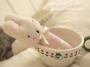 新品 honeyDIY 粉色砂糖兔摇铃玩具 新生儿摇摇乐(非成品),玩偶,