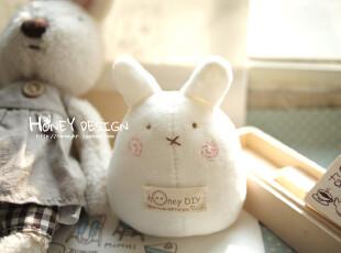 honeyDIY 手工QQ兔婴儿摇铃玩具玩偶 宝宝摇铃玩具(非成品),玩偶,