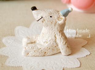 日本ZAKKA杂货-花园石好朋友系列蓝帽子小熊(可用于拍照背景),玩偶,