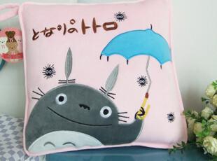 包邮 卡通空调被 龙猫阿狸海绵宝宝kt猫抱枕夏凉被两用 创意礼物,玩偶,
