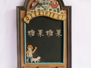 库存尾单 欧式田园风格 家居装饰品 家用木制留言板黑板写字板,玩偶,