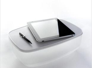 韩国代购创意多功能床上饭桌办公迷你笔记本电脑桌透明软靠垫枕头,电脑桌,