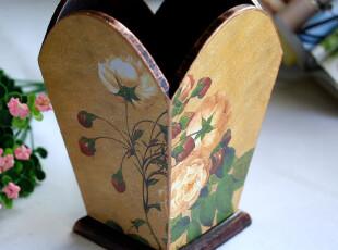 幻梦童话精美欧式美克美家木质笔筒罐收纳盒书桌装饰摆件,电脑桌,