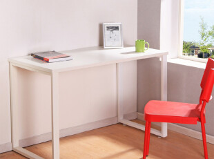 有园 钢木书桌简约 桌子简约办公桌简约电脑桌台式家用宜家现代,电脑桌,