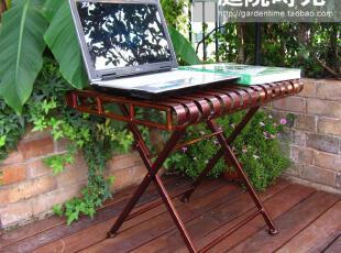 庭院时光 特价欧式宫廷铁艺折叠桌/庭院家具/花架几架/茶几,电脑桌,