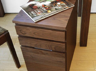 木聪良品家具日式实木北欧现代风格胡桃木 书桌柜组合HD-200H,电脑桌,