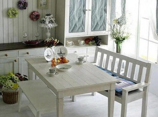 地中海家具 田园风格 实木 松木餐桌 书桌 多功能桌椅,电脑桌,