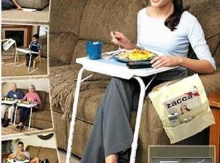 韩国代购 多功能折叠式6段高度角度调节书桌/电脑桌/床边桌,电脑桌,