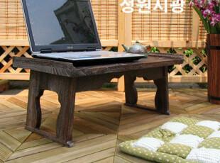 【庭院时光】日式烧桐家具笔记本折叠桌/供桌/盆景架,电脑桌,