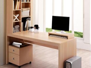 宜家逸居 现货高品质 连体书桌柜 电脑桌 台式家用办公桌 YG1034,电脑桌,