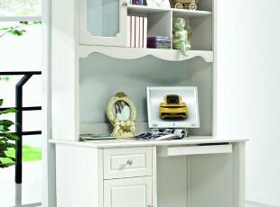 青春在线 田园家具田园书柜 实木柜子 实木书桌书柜 SG801A,电脑桌,