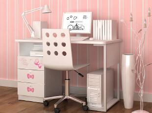 HelloKitty可爱儿童书桌书柜组合 学生书桌 儿童电脑桌家用台式桌,电脑桌,
