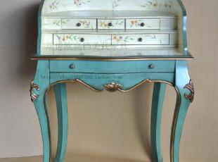 美式田园 欧式 韩式  手绘彩绘家具 仿古家具 梳妆台 书桌--有货,电脑桌,