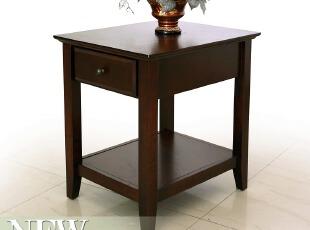 包邮美式简约实木板材茶几边几角几电话桌客厅几类家具SH-02,电脑桌,