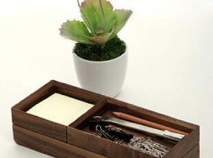 [玲珑堂] 天然实木书桌用品三件套(便签座、笔托、文具盘),电脑桌,