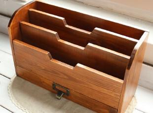 ZAKKA 复古做旧木质书架 实木书桌收纳柜 收纳盒盒架 带抽屉,电脑桌,