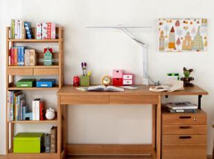 实木组合学习桌/写字台/书柜电脑桌组合/书桌/笔记本电脑桌,电脑桌,