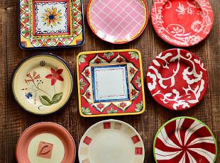 江南生活|手绘陶瓷|7.8-8.6寸盘子|西餐盘|可做装饰盘|挂盘,盘碟,