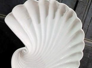 h161-2; 又是地中海。瓷。海螺。【盘】。,盘碟,