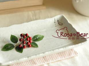 日式和风长方形可爱小茄子餐盘 点心盘   家居陶瓷  釉下彩,盘碟,