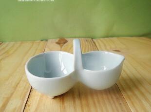 日式zakka 陶瓷 芥末碟料理碟 乳蓝色葫芦蘸料碟 小碟子 迷你款,盘碟,