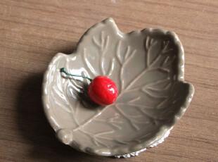 外贸韩式创意叶子形小吃碟 日式料理碟 酱料碟 小盘子 碟子 5.2寸,盘碟,