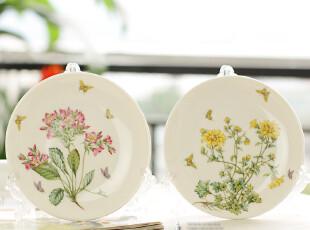 韩式田园风格--陶瓷花园系列 盘子 餐盘 小菜盘,盘碟,