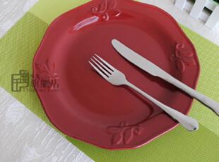 微疵11英寸|浮雕盘子|西餐牛排盘|装饰盘|外贸陶瓷餐具|出口原单,盘碟,