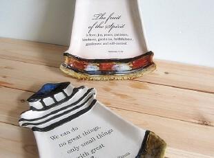 欧美原单 地中海灯塔盘子大盘子餐盘装饰盘糖果盘 限量特惠价,盘碟,